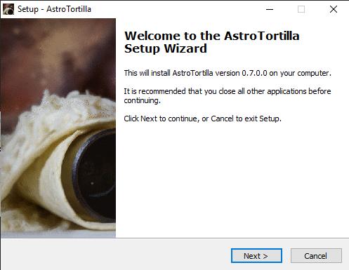 faire du platesolving et installer Astrotortilla astro
