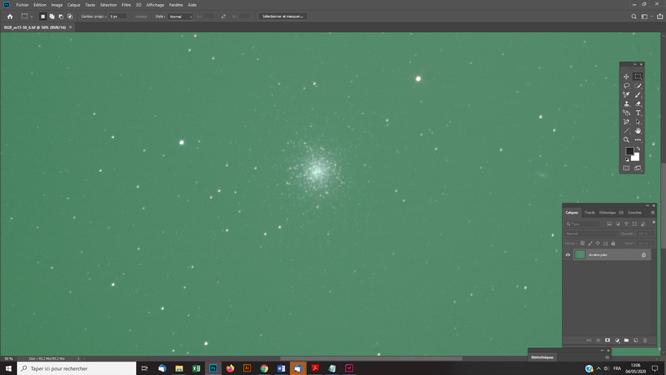 Techniques photoshop astrophoto équilibrer la balance des couleurs avec un filtre IDAS D1 sur une photo astronomique