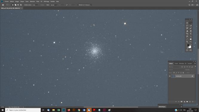 Tutoriel photoshop astrophotographie Retrouver une balance des couleurs avec le filtre IDAS D1