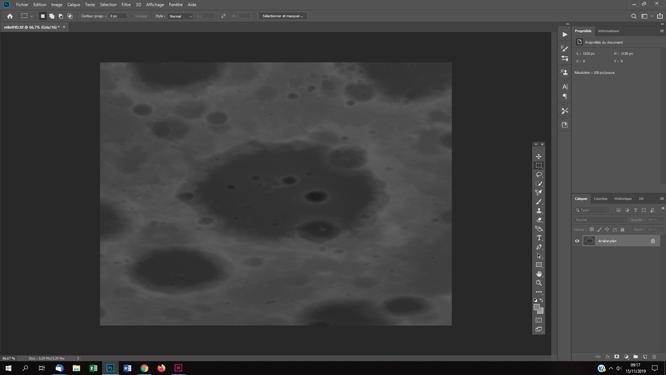 le relief d'un cratère lunaire en 3D technique de traitements des photos astro