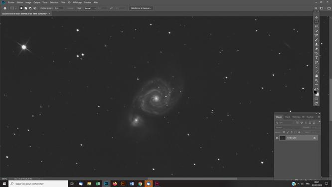 Techniques photoshop astrophoto éclaircir un objet du ciel profond sans modifier le fond de ciel