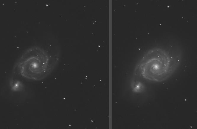 Traitement photoshop photo astro Eclaircir un objet sans modifier le fond de ciel et les étoiles