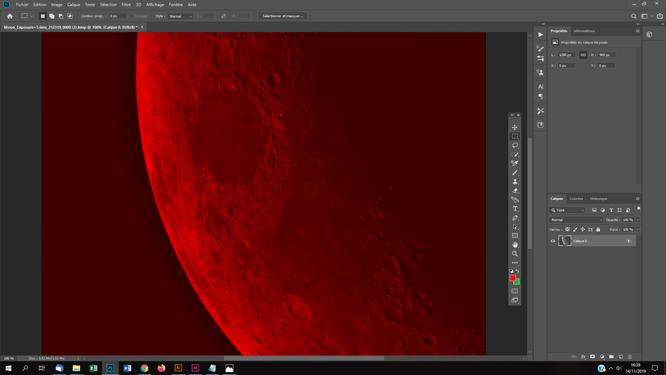 Tutoriel photoshop astrophotographie Effet anaglyphe sur une surface lunaire