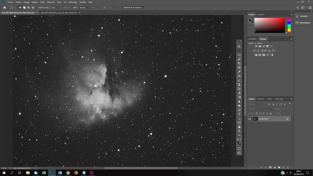 traitement des lumières hautes sur photo astro