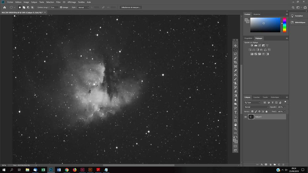 réduction d'étoiles photo astro avec photoshop