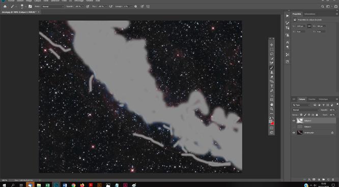Similation 3D d'un objet du ciel profond avec Facebook tutoriels astrophotographie avec Photoshop