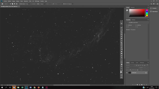 stretcher manuellement une photo astro sous Photoshop
