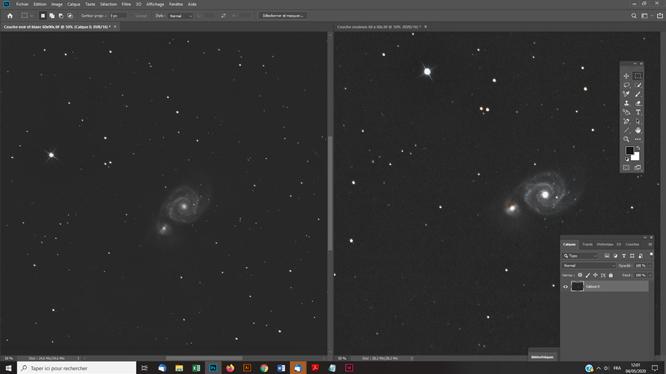 Techniques photoshop astrophoto superposer une couche couleurs sur une photo noir et blanc pour obtenir de la couleur sur la photo astro