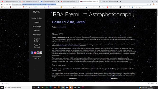Techniques photoshop astrophoto supprimer la couleur verte ou excédent sur une photo astro couleurs