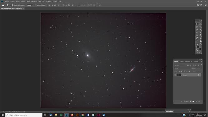 Techniques photoshop astrophoto supprimer un vignettage sur une photo astro grâce à un flat artificiel