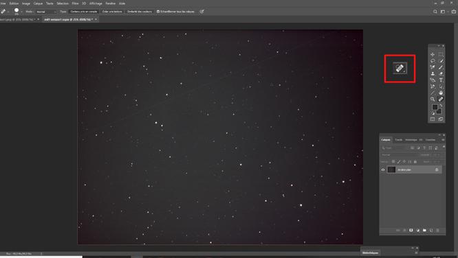Tutoriel photoshop astrophotographie Supprimer le vignettage avec un flat artificiel