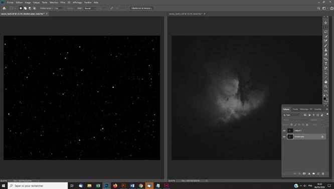 traitement photo astro Traitement de la nébuleuse avec un masque d'étoiles