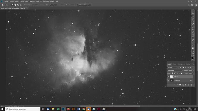 tutoriel photoshop pour astrophotographie Traitement de la nébuleuse avec un masque d'étoiles